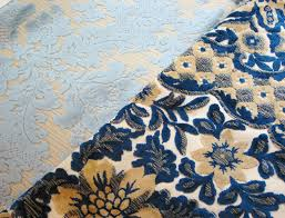 Blue Damask Upholstery Fabric Niesz Vintage Home And Fabric July 2013