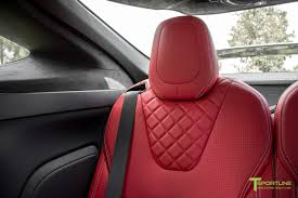matte red bentley pearl white tesla model x bentley red custom interior