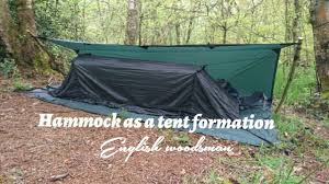 dd hammock setup as a tent formations with dd 3x3 trap as a ground