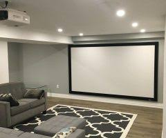 Upholstery Orange County Basement Living Room Modern With Projector Orange County Carpet
