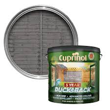 cuprinol ducksback grey shed u0026 fence treatment 9l departments