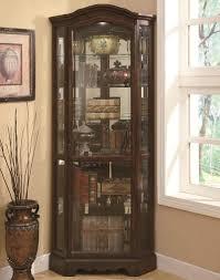 kitchen curio cabinets fancy convex shape kitchen corner curio cabinet features brown