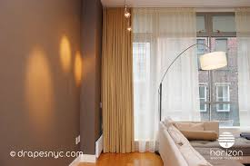 95 Long Curtains Long Floor To Ceiling Curtains Solid Brown With White Sheer
