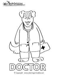 doctor coloring printable fun worksheets