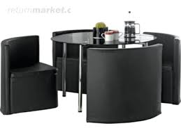 Space Saver Dining Table And Chair Set Space Saver Table And Chair Set Black Glass Dining Room Table Set