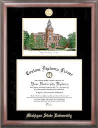 michigan state diploma frame michigan state spartans college graduation diploma
