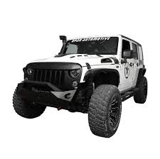 matte black jeep 2017 paintable front matte black demon grill grille for jeep wrangler