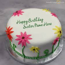 special birthday cake for sister bday wishes cakes