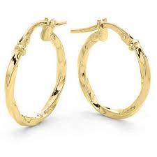 9ct gold earrings 9ct gold silver filled small hoop earrings nz jewellery