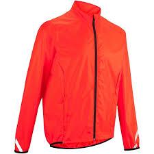 waterproof bike jacket 100 waterproof cycling jacket red decathlon