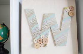 how to make a washi tape monogram in 4 steps