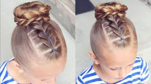 cute hairstyles pull through braid how to pull through bun hairstyle little girl hairstyles youtube