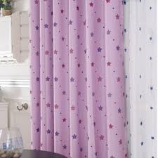 Thick Purple Curtains Polyester Blackout Purple Curtains