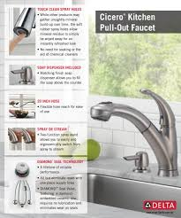 How To Fix A Leaky Delta Kitchen Faucet Delta Cicero Single Handle Pull Out Sprayer Kitchen Faucet With