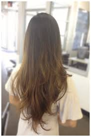 2017 medium layered hair back view v shape