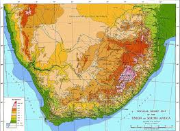 africa map elevation south africa maps
