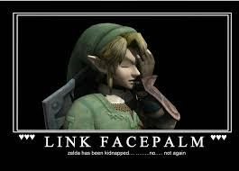 Facepalm Memes - 22 meme internet link facepalm zelda has been kidnapped no