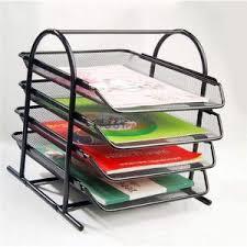 wire mesh desk organizer buy 4 tier tray metal mesh desk organiser online best prices in