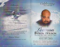 funeral program covers leamon obit voice of detroit the city s independent newspaper