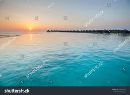 exotic tropical paradise sunset sunrise over stock photo 634279997