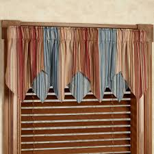 Blue Swag Curtains Valance And Swags Kohl S Drapery Rods Blue Curtains For Living