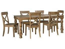 ashley dining room sets signature design by ashley trishley 7 piece solid pine dining