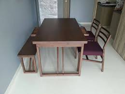 japanese furniture tocco dining table and bench solid siam