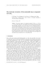 the electronic structure of the metastable layer compound 1t crse2