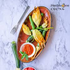 herbivore cucina stuffed baked not fried zucchini blossoms