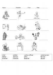 occupation worksheet by david j barry