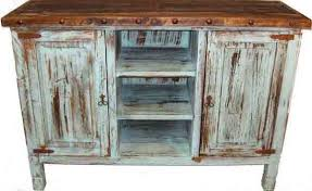 Mexican Rustic Bedroom Furniture Antique Turquoise Distressed Paint Tv Stand Or Server Texas Rustic