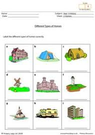 Types Of Houses Pictures Free Homes Printable Resource Worksheets For Kids