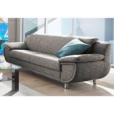 canapé trois suisses canapé 3 places en tissu chiné gris brun autres mobilier