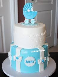 baby carriage cake blue baby carriage babyshower cake visit my at www t flickr