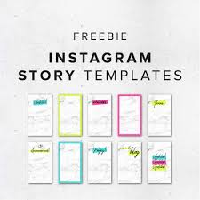 instagram layout vector illustrator freebie colorful instagram story templates big cat creative