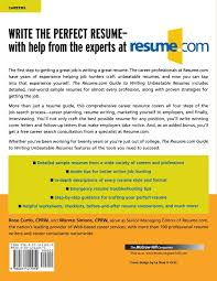 Best Online Resume Writers by The Resume Com Guide To Writing Unbeatable Resumes Warren Simons