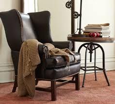 Wingback Chair Ottoman Design Ideas Chair Design Ideas Leather Wingback Chairs With Ottoman Leather