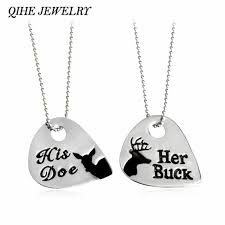Buck And Doe Couples Necklace Online Get Cheap Buck Doe Necklace Aliexpress Com Alibaba Group