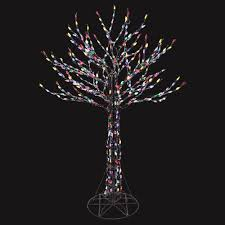 tree branch decorations in the home home accents holiday 6 ft led deciduous tree sculpture with multi