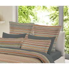 Brushed Cotton Duvet Cover Double Dormisette Multi Colour Striped 100 Brushed Cotton Duvet Cover