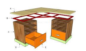 Diy Desk Plans Diy Corner Computer Desk Plans Free Diy Corner Desk Plans