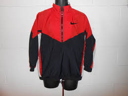 nike windbreaker vintage 90s black red white nike windbreaker jacket s m what u0027s