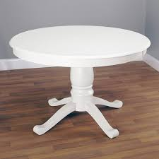 Round Antique White Dining Table Starrkingschool - Tribecca home mckay country antique white pedestal extending dining table