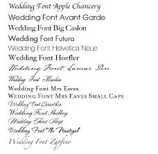 wedding invitations font wedding invitations font chart