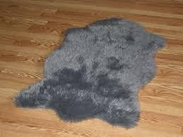 amazon com faux animal skin hide rug 4 u00273 x 6 u00273 grey kitchen