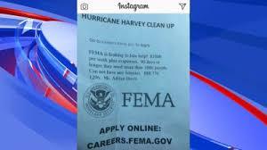 fema help desk phone number fema warns of social media job scam wreg com