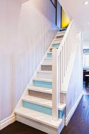 use paint to create upbeat stair risers stairs caribbean and