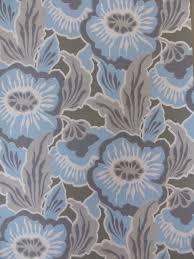 Modern Floral Wallpaper Blue Grey Floral Wallpaper Funkywalls Dé Webshop Voor Vintage