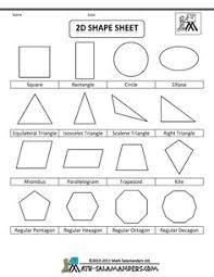 2d shape poster polygon family tree flow chart freebie math