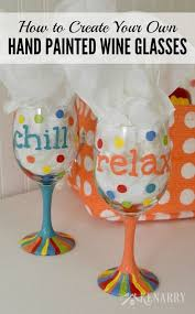 hand painted wine glasses how to make your own enamel paint